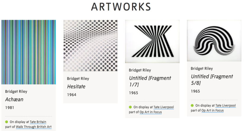 Bridget Riley, artworks Tate