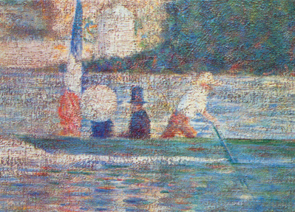 Detail from Seurat's 'Bathers at Asnieres'
