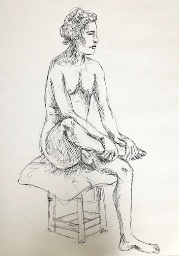 Drawing the human figure - 15 min sketch pen