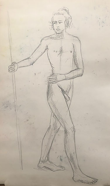 Drawing the human figure - pencil sketch