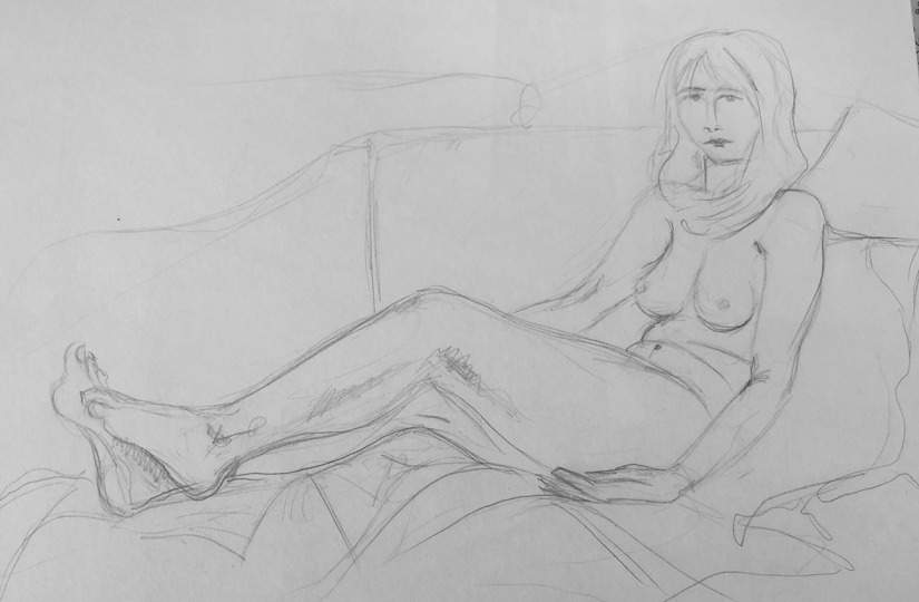 Linear figure study pre sketches b