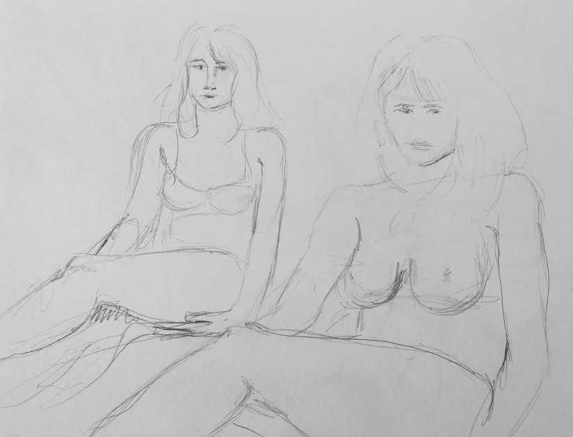 Linear figure study pre sketches c