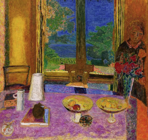 Pierre Bonnard 'Dining Room on the Green' 1934~35
