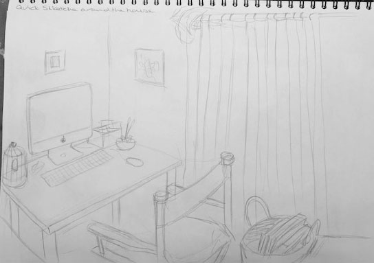 Quick Sketches around the house D