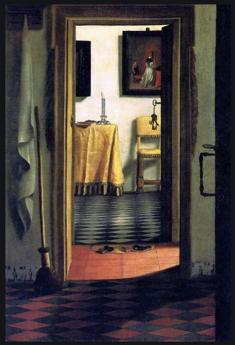 Samuel van Hoogstraten - 'View of an interior' 1627-1678 copy