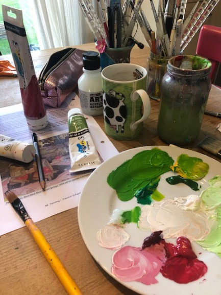 Still Life with complimentary colours palette