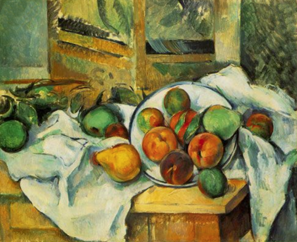 Table, Napkin, and Fruit (A Corner of the Table) Cezanne 1895-1900