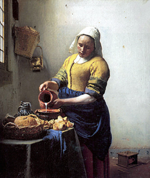 'The Milk Maid' Johannes Vermeer 1658-1660 copy