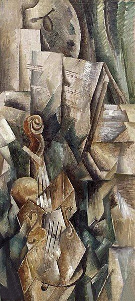 Violin and Palette, Georges Braque, 1909