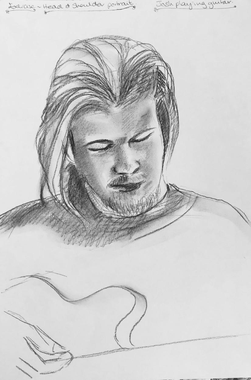 Josh Sketch Head and shoulders portrait b