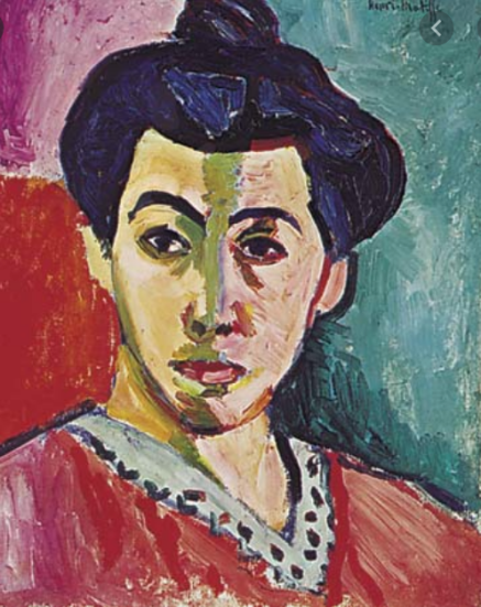 Portrait of Madame Matisse (Matisse's wife) 1913