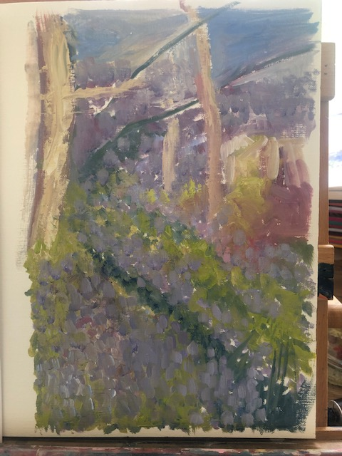 Bluebell wood painitng c