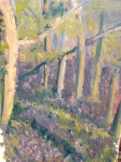 Bluebell wood painting a