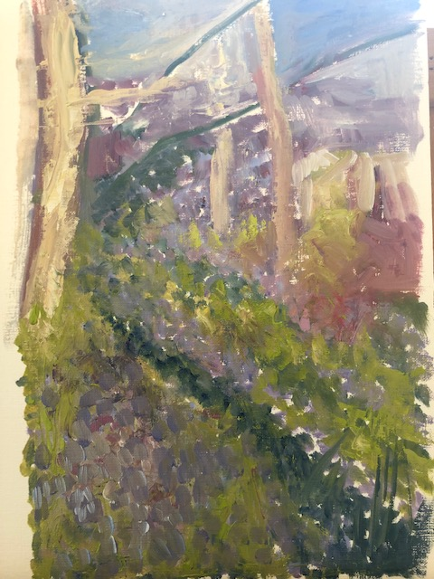 Bluebell wood painting b