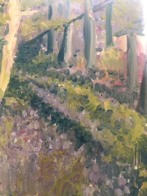 Bluebell wood painting d