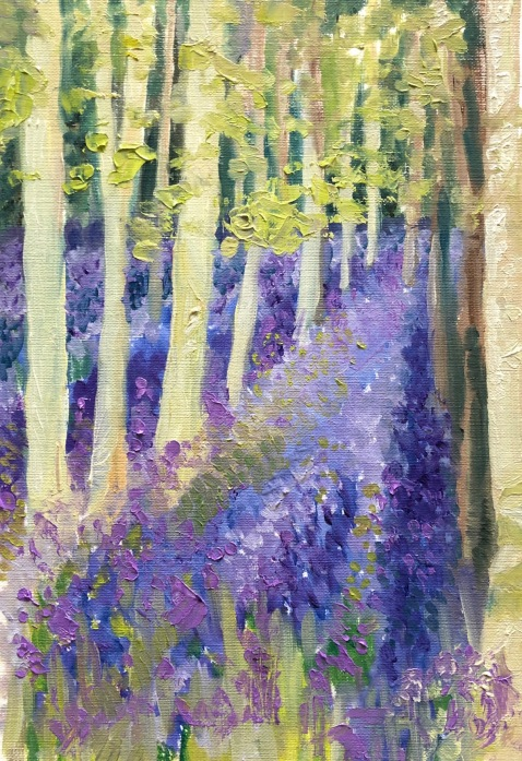 Bluebells linear perspective
