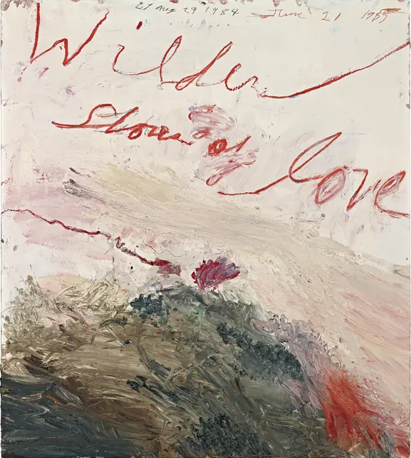 CY Twombly 'Wilder Shores of Love' 1985