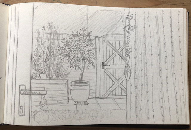 From inside looking out sketch