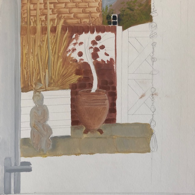 Inside looking out painting a