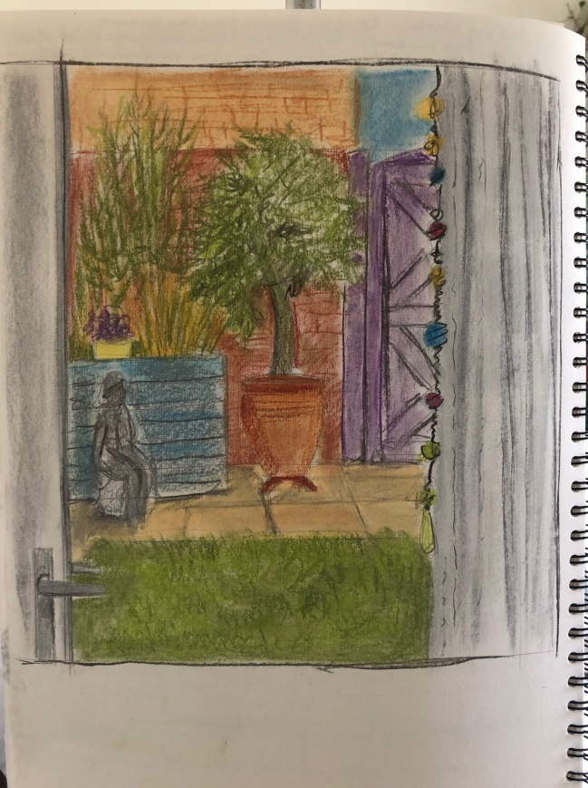Looking from inside sketch