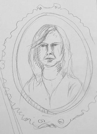 Self portrait sketch a