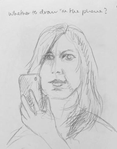 Self portrait sketch b