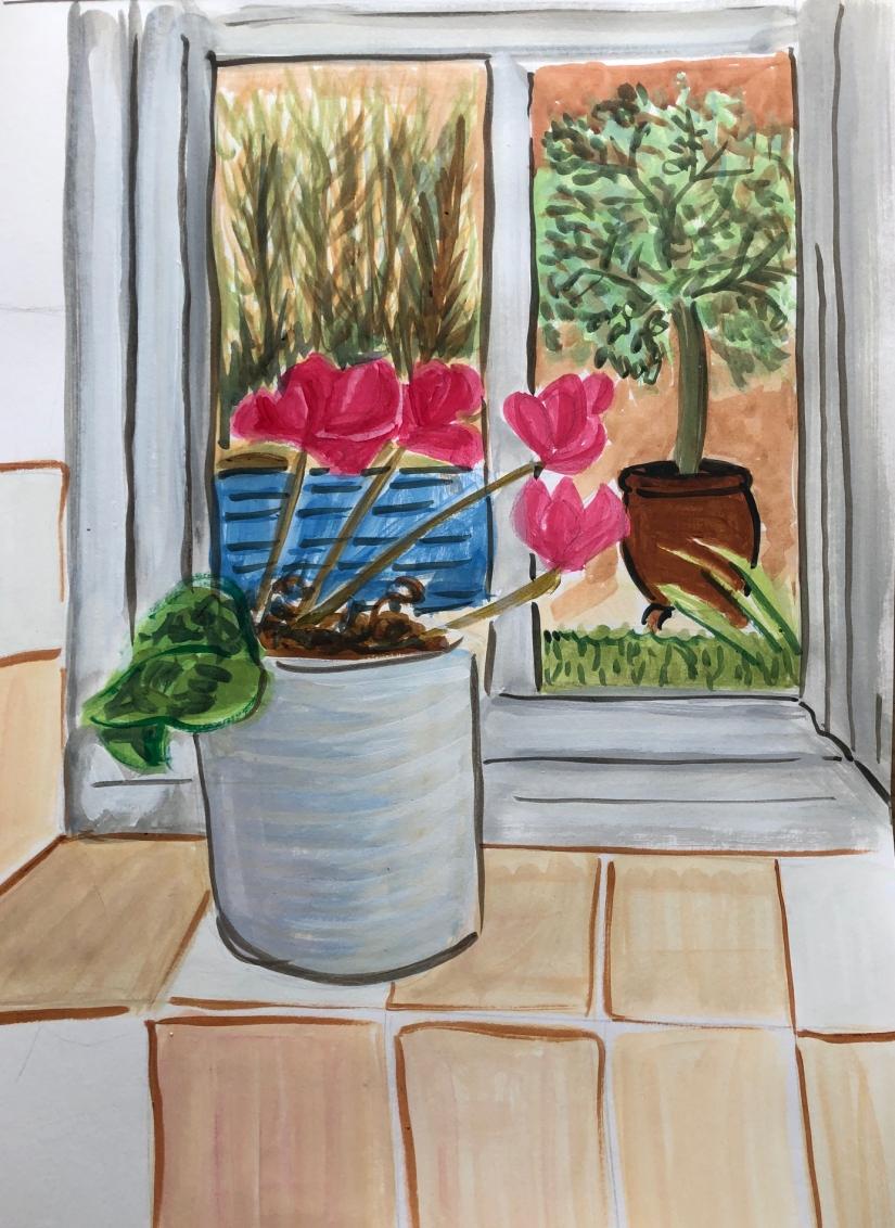 Sketch from kitchen window