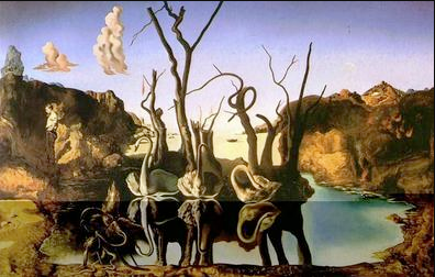 Cynes reflechis en elephants ~ Dali, 1937