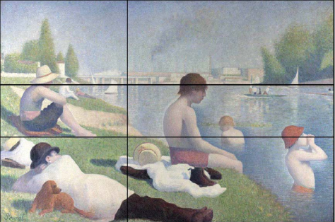 Golden Mean example Seurat ~ 'The Bathers at Asnieres'