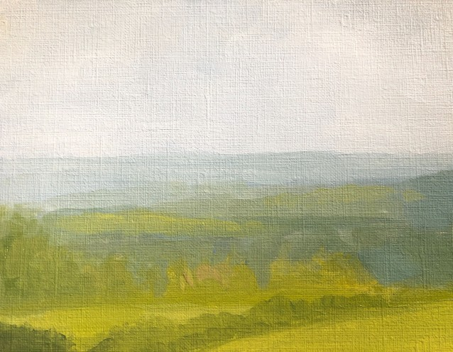 Painting outside sky detail