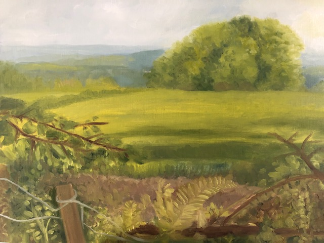 Painting outside view from sulhamstead wood