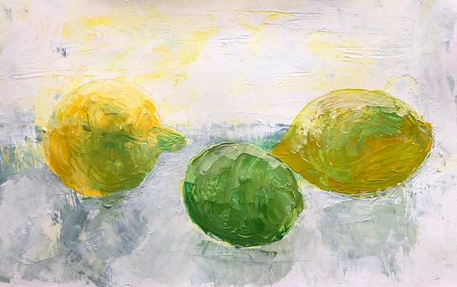 Lemons palette knife a