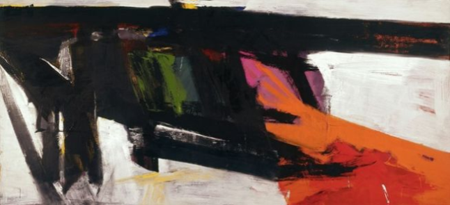 'Orange and black wall' Franz Kline