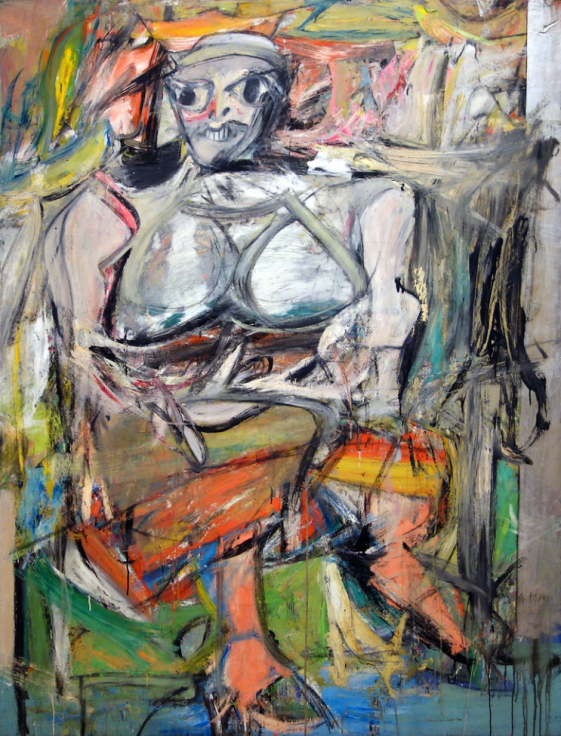 Willem de Kooning, Woman I, 1950-52, oil on canvas (MoMA)