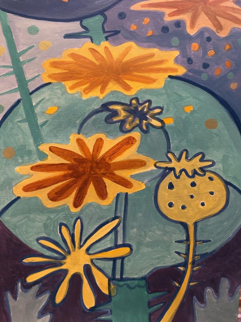 Abstract poppy pod study b