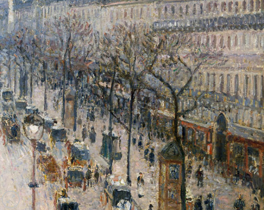 Boulevard Monmartre, Winter Morning, Camille Pissarro