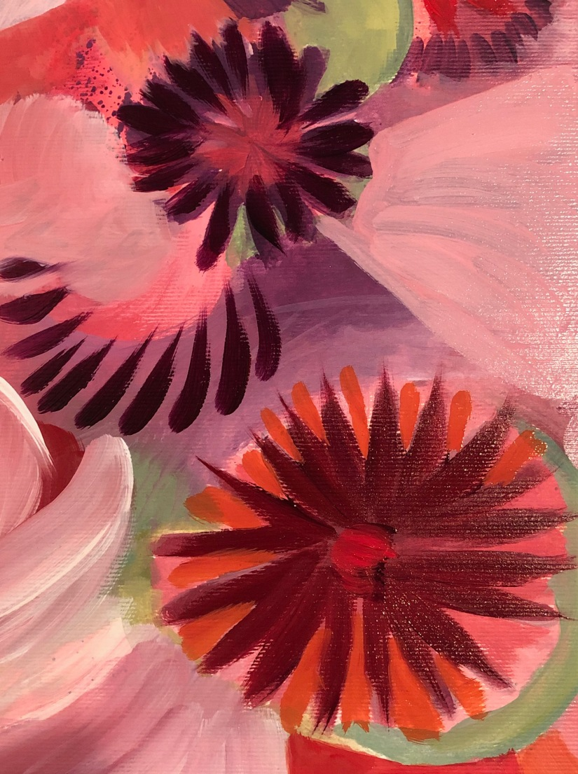 Poppy abrstract oil detail