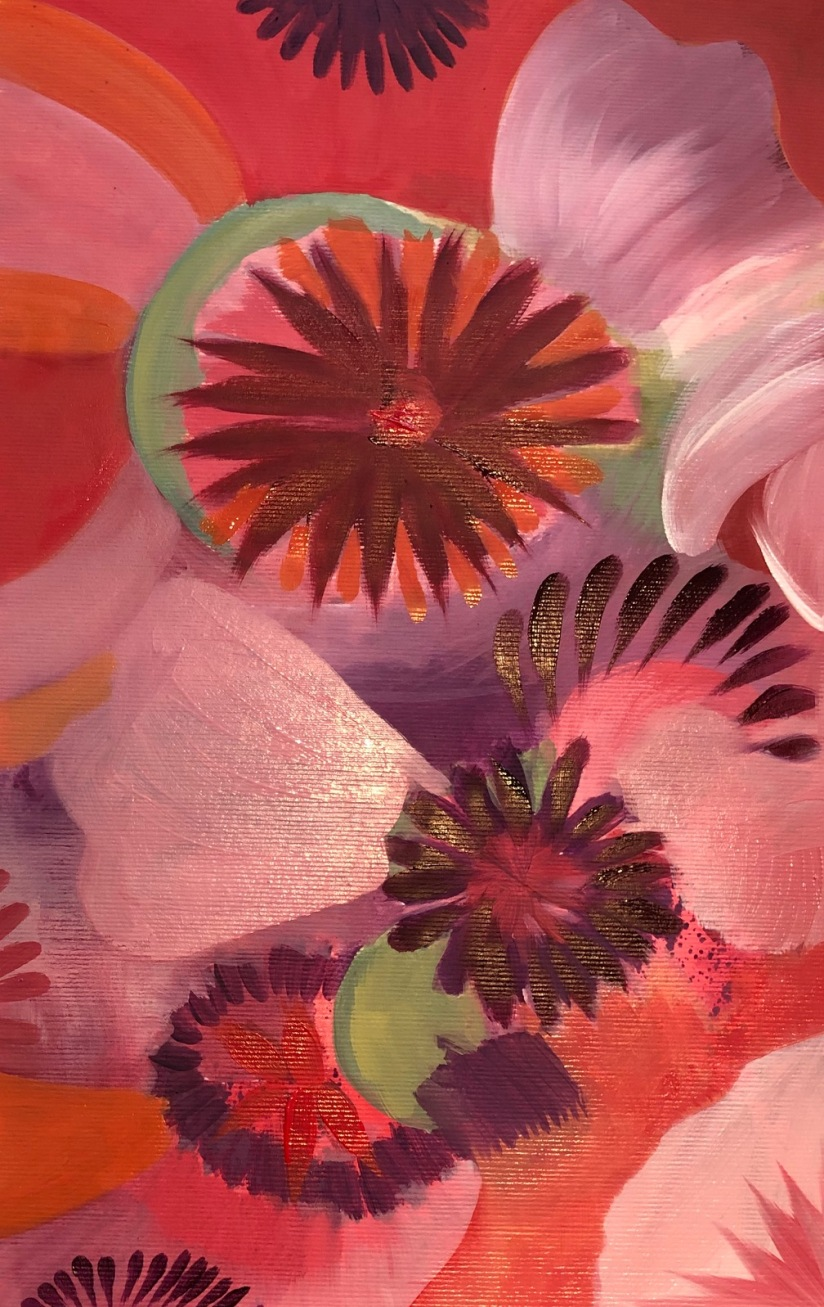 Poppy abstract oil