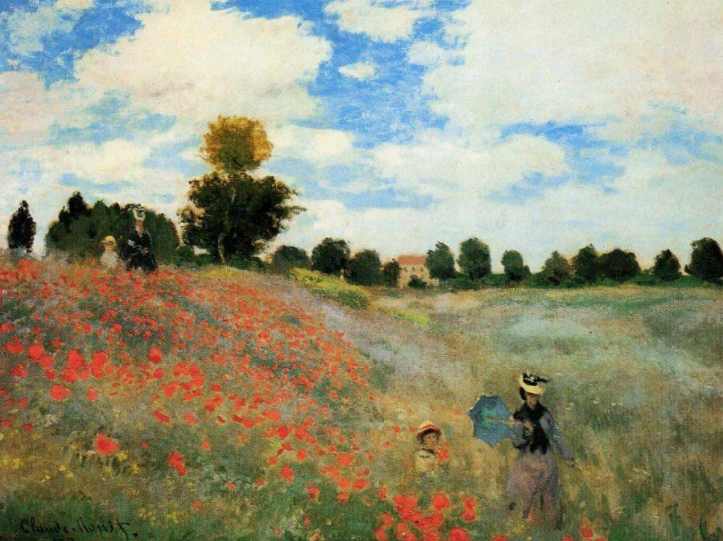 'The Poppy Field' Claude Monet, 1873